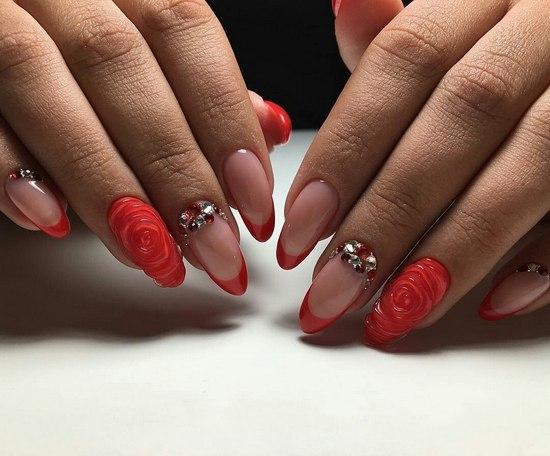 Дизайн ногтей 2017 новинки френч на острых ногтях