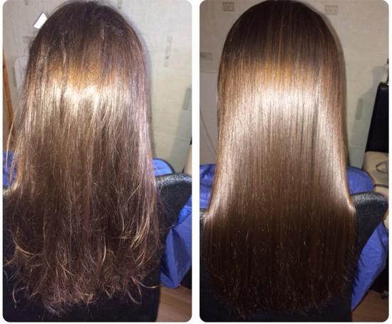 Горячее обертывание шёлком для волос