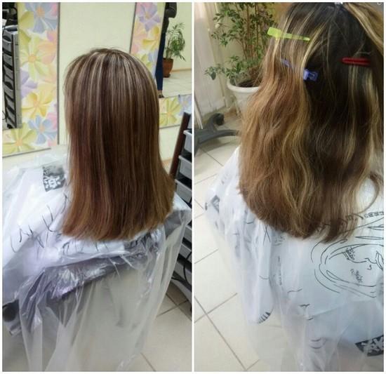 Чем и как осветлить кончики волос в  863