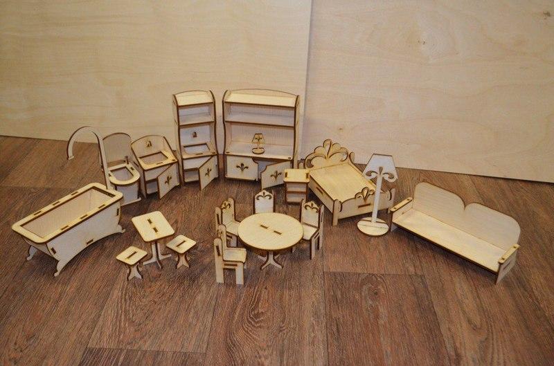 мебель для кукол из фанеры